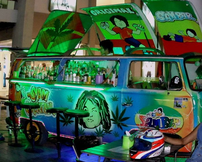 air brush vw bus reggae